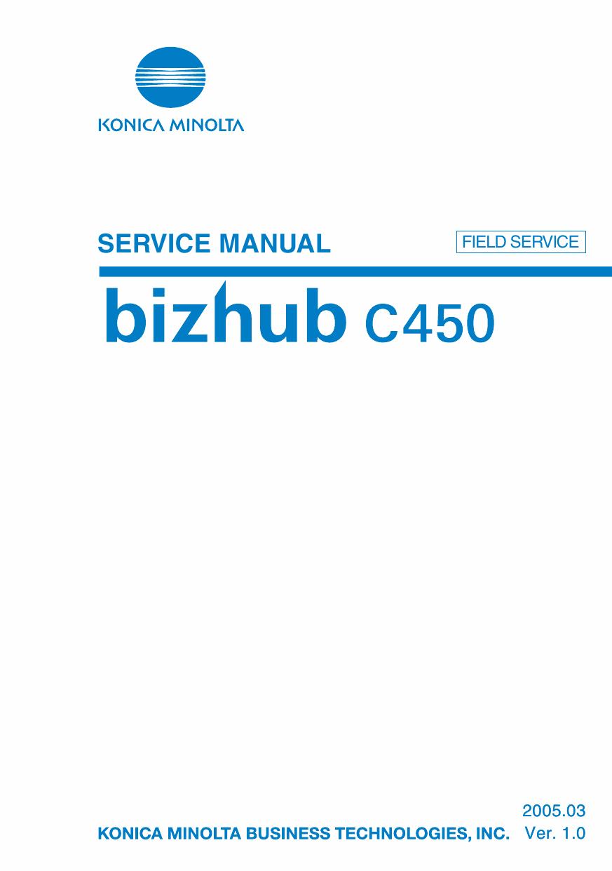konica minolta bizhub c450 field service service manual Konica Minolta Bizhub C550 Konica Minolta Bizhub C450